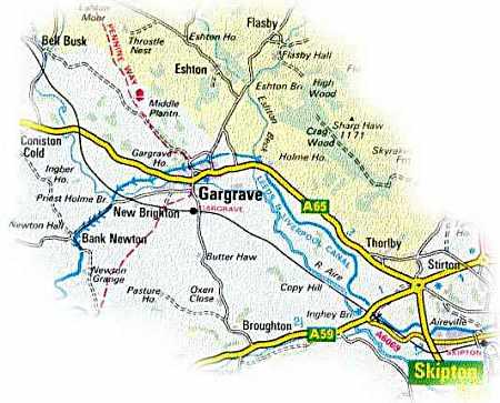 Gargrave Location Map